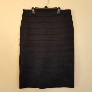 NY&C Stretch Black Pencil Skirt